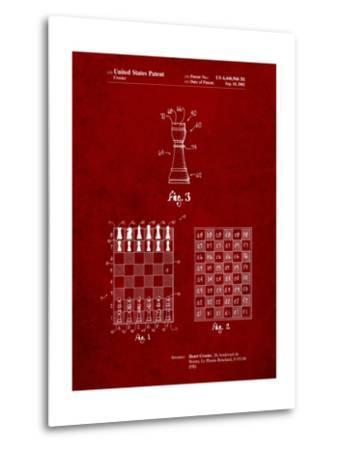 Speed Chess Game Patent-Cole Borders-Metal Print