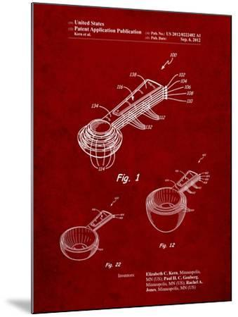 Stacking Measuring Cups Patent-Cole Borders-Mounted Art Print