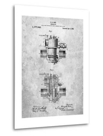 Ford Carburetor 1916 Patent-Cole Borders-Metal Print