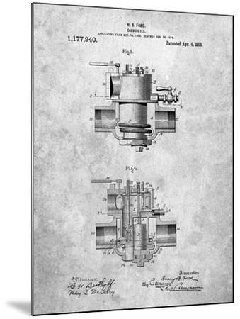 Ford Carburetor 1916 Patent-Cole Borders-Mounted Art Print