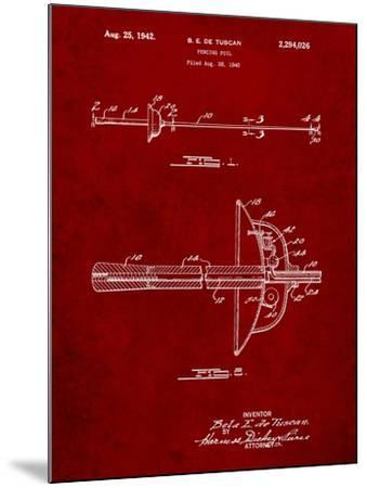 Fencing Sword Patent-Cole Borders-Mounted Art Print