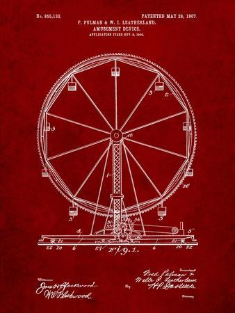 Ferris Wheel-Cole Borders-Framed Art Print