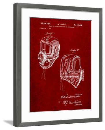 Sub Zero Mask Patent-Cole Borders-Framed Art Print