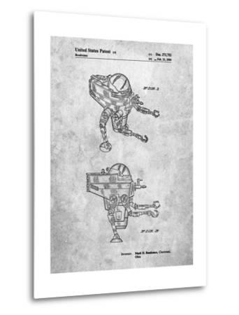 Mattel Space Walking Toy Patent-Cole Borders-Metal Print