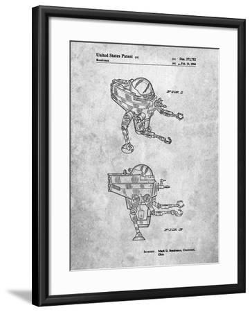 Mattel Space Walking Toy Patent-Cole Borders-Framed Art Print