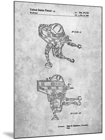 Mattel Space Walking Toy Patent-Cole Borders-Mounted Art Print