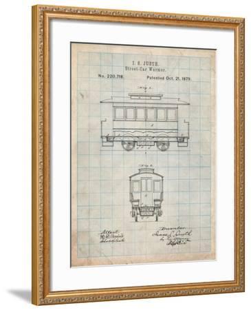 Streetcar Patent-Cole Borders-Framed Art Print