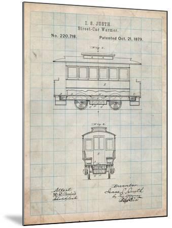 Streetcar Patent-Cole Borders-Mounted Art Print