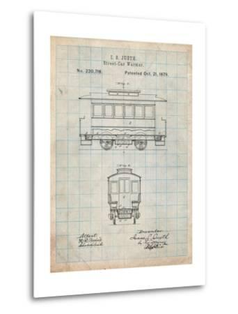 Streetcar Patent-Cole Borders-Metal Print