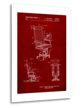 Exercising Office Chair Patent-Cole Borders-Metal Print