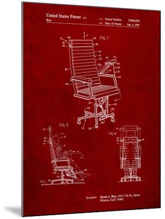 Exercising Office Chair Patent-Cole Borders-Mounted Art Print