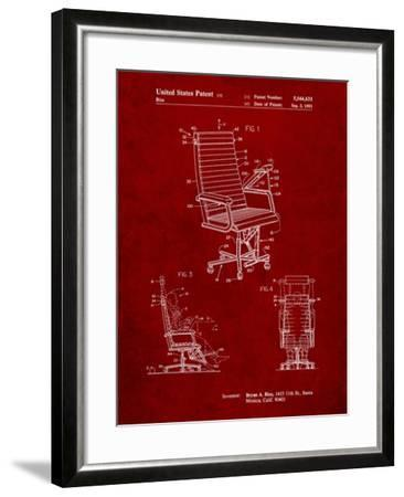 Exercising Office Chair Patent-Cole Borders-Framed Art Print