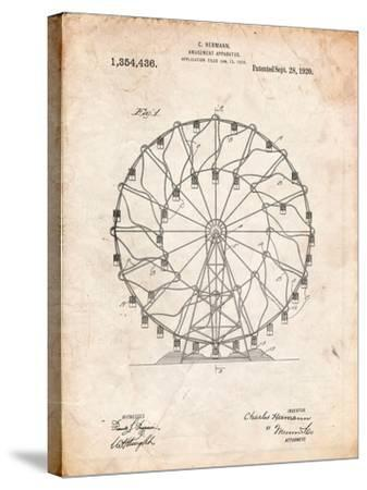 Ferris Wheel 1920 Patent-Cole Borders-Stretched Canvas Print