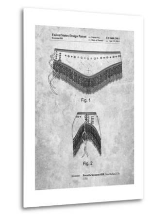 Belly Dancing Belt-Cole Borders-Metal Print
