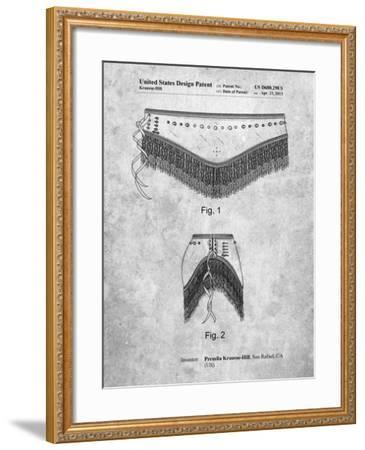 Belly Dancing Belt-Cole Borders-Framed Art Print