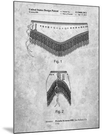 Belly Dancing Belt-Cole Borders-Mounted Art Print