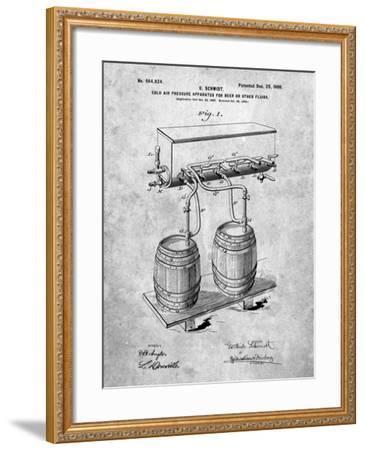 Beer Keg Cold Air Pressure Tap-Cole Borders-Framed Art Print