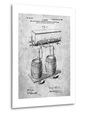 Beer Keg Cold Air Pressure Tap-Cole Borders-Metal Print