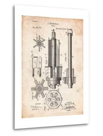 Drill Tool Patent-Cole Borders-Metal Print