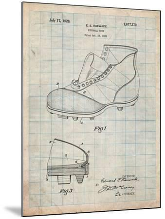 Football Cleat 1928 Patent-Cole Borders-Mounted Art Print