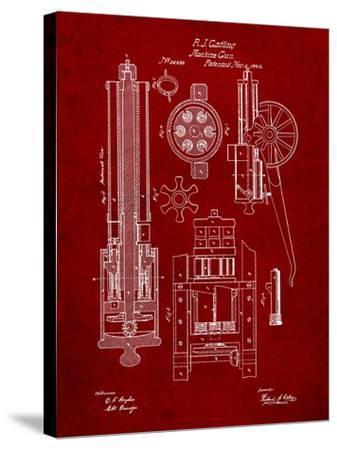 Machine Gun Patent-Cole Borders-Stretched Canvas Print