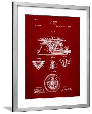 Gas Stove Kitchen Art Patent-Cole Borders-Framed Art Print