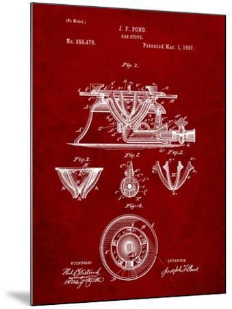 Gas Stove Kitchen Art Patent-Cole Borders-Mounted Art Print