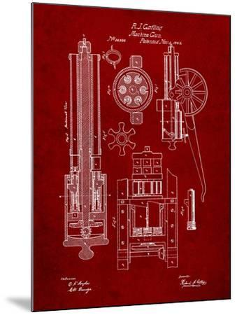 Machine Gun Patent-Cole Borders-Mounted Art Print