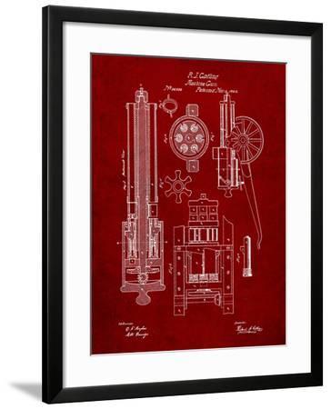 Machine Gun Patent-Cole Borders-Framed Art Print
