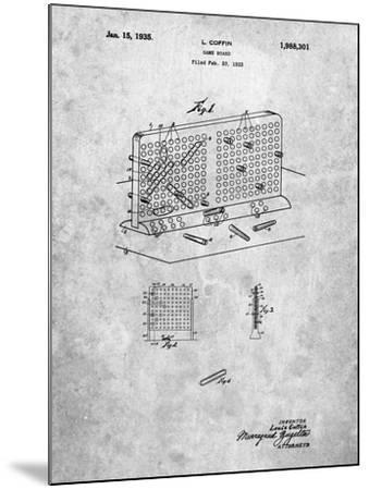 Battleship Game Patent-Cole Borders-Mounted Art Print