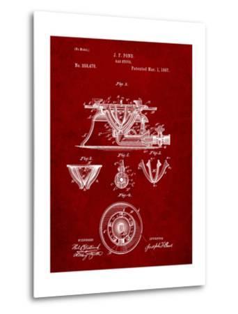 Gas Stove Kitchen Art Patent-Cole Borders-Metal Print