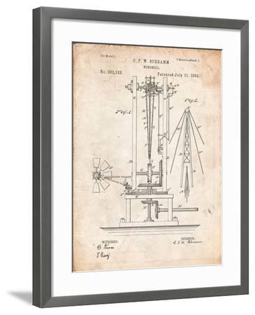 Windmill Patent-Cole Borders-Framed Art Print