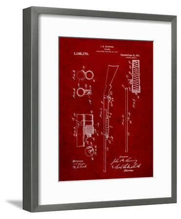 Browning Shotgun Patent-Cole Borders-Framed Art Print