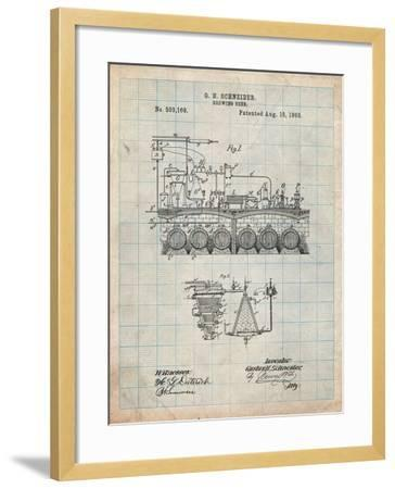 Beer Brewing Science 1893 Patent-Cole Borders-Framed Art Print
