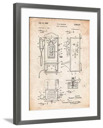 1950's Telephone Patent-Cole Borders-Framed Art Print