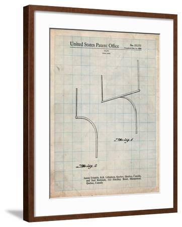 Football Goal Post Patent Print-Cole Borders-Framed Art Print