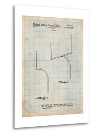 Football Goal Post Patent Print-Cole Borders-Metal Print