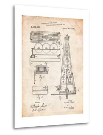 Drilling Rig Patent-Cole Borders-Metal Print