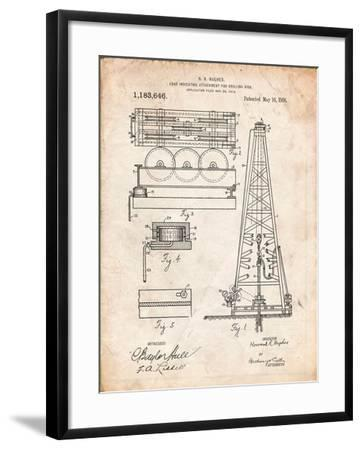 Drilling Rig Patent-Cole Borders-Framed Art Print