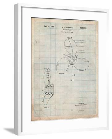 Boat Propeller 1964 Patent-Cole Borders-Framed Art Print
