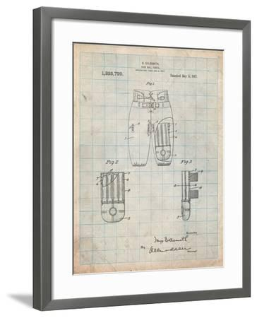 Football Pants Patent Print-Cole Borders-Framed Art Print
