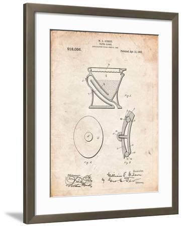 Water Closet Patent-Cole Borders-Framed Art Print