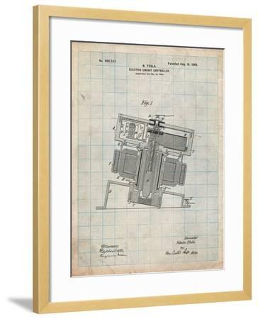 Tesla Electric Circuit Controller-Cole Borders-Framed Art Print