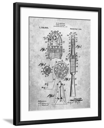 Rocket Patent-Cole Borders-Framed Art Print