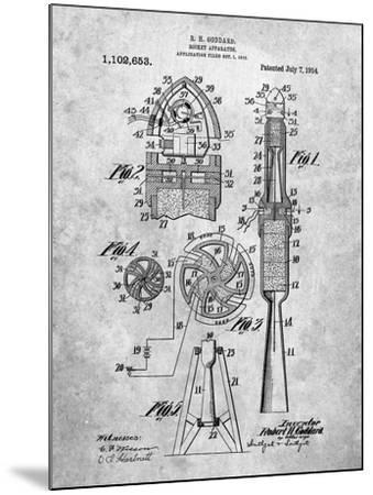 Rocket Patent-Cole Borders-Mounted Art Print