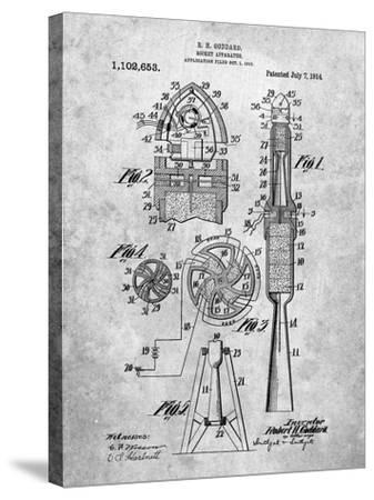 Rocket Patent-Cole Borders-Stretched Canvas Print