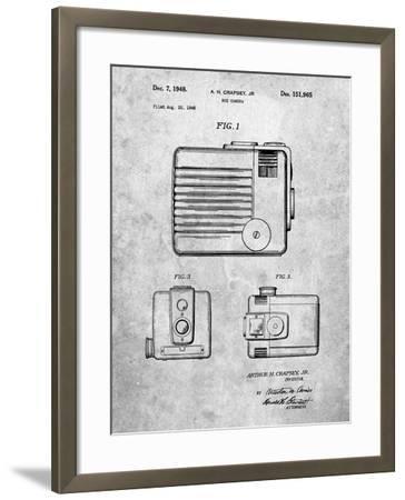 Kodak Brownie Hawkeye Patent-Cole Borders-Framed Art Print