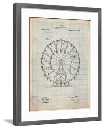 Ferris Wheel 1920 Patent-Cole Borders-Framed Art Print