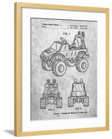 Kids Truck-Cole Borders-Framed Art Print