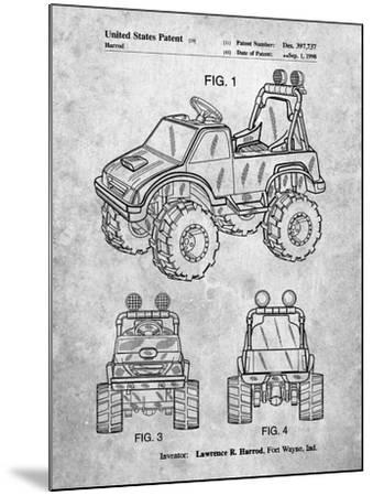 Kids Truck-Cole Borders-Mounted Art Print